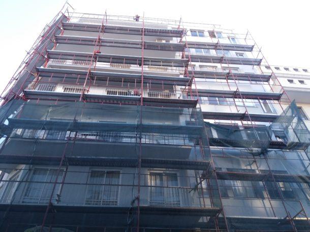 Ανακαίνιση κτιρίου σε Πειραιά επισκευή όψεων